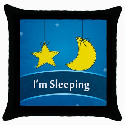 I m Sleeping By Divad Brown   Throw Pillow Case (black)   Y9v2pnwt66aa   Www Artscow Com Front
