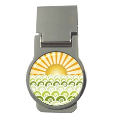 Along The Green Waves Money Clip (round) by tees2go