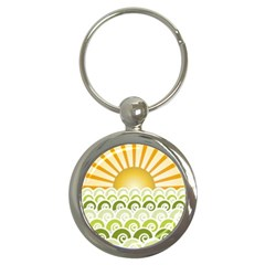 Along The Green Waves Key Chain (round) by tees2go