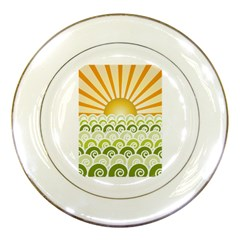 Along The Green Waves Porcelain Display Plate by tees2go