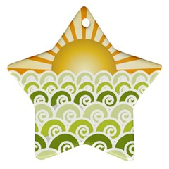 Along The Green Waves Star Ornament (Two Sides) by tees2go