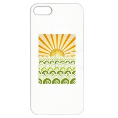 Along The Green Waves Apple Iphone 5 Hardshell Case With Stand by tees2go