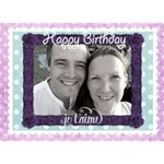 J taime Happy Birthday card - Birthday Cake 3D Greeting Card (7x5)