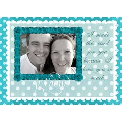 J taime Happy Birthday 3d Card In Aqua By Claire Mcallen   Birthday Cake 3d Greeting Card (7x5)   00g6n2s1ftzj   Www Artscow Com Back