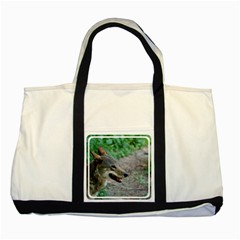 Red Wolf Two Toned Tote Bag