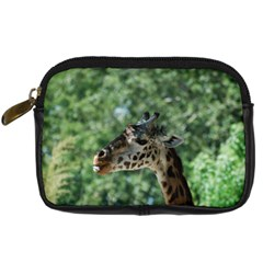 Cute Giraffe Digital Camera Leather Case by AnimalLover
