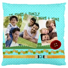Family By Joely   Large Cushion Case (two Sides)   Ufnejfysb4g8   Www Artscow Com Back