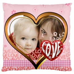 Love By Joely   Large Cushion Case (two Sides)   Bhiexuzwpp9b   Www Artscow Com Front