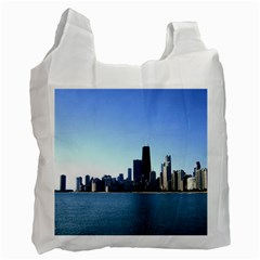 Chicago Skyline Recycle Bag (one Side) by canvasngiftshop