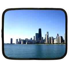 Chicago Skyline Netbook Case (xxl) by canvasngiftshop