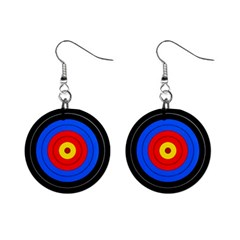 Target Mini Button Earrings by hlehnerer