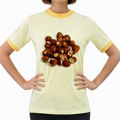 Hazelnuts Womens  Ringer T Shirt (colored)