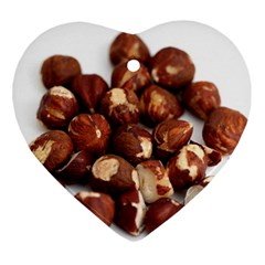 Hazelnuts Heart Ornament (two Sides) by hlehnerer