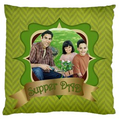 Fathers Day By Dad   Large Cushion Case (two Sides)   Oxab9bitl20f   Www Artscow Com Front