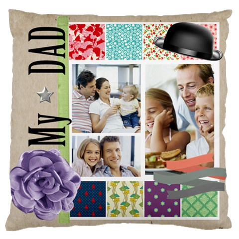 Father By Dad   Large Cushion Case (one Side)   Bmy801ko00na   Www Artscow Com Front