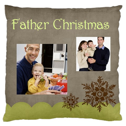 Father By Dad   Large Cushion Case (one Side)   Cdtkspgn2ttp   Www Artscow Com Front