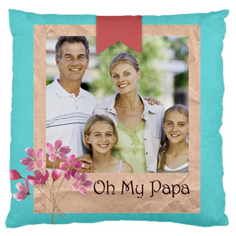 Father By Dad   Large Cushion Case (one Side)   Q00jhy27psig   Www Artscow Com Front