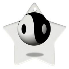 Yin Yang Star Ornament by hlehnerer