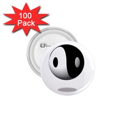 Yin Yang 1 75  Button (100 Pack) by hlehnerer
