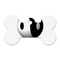 Yin Yang Dog Tag Bone (two Sided) by hlehnerer