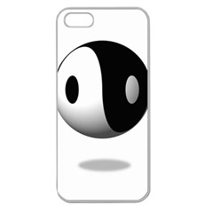 Yin Yang Apple Seamless Iphone 5 Case (clear) by hlehnerer
