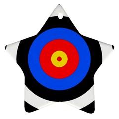 Target Star Ornament (two Sides) by hlehnerer