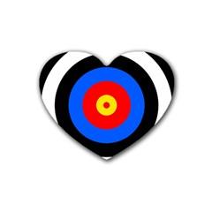 Target Drink Coasters 4 Pack (heart)  by hlehnerer