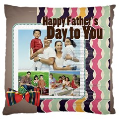 Father s Day By Dad   Large Cushion Case (two Sides)   0yu081b5i9qe   Www Artscow Com Back