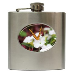 Butterfly 159 Hip Flask by pictureperfectphotography