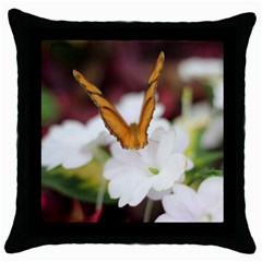 Butterfly 159 Black Throw Pillow Case by pictureperfectphotography