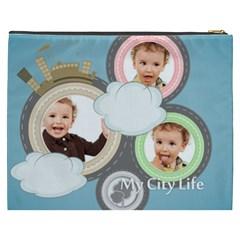 City Life By Anita   Cosmetic Bag (xxxl)   4qe2sapr3ysc   Www Artscow Com Back