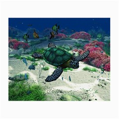 Sea Turtle Glasses Cloth (small, Two Sides) by gatterwe