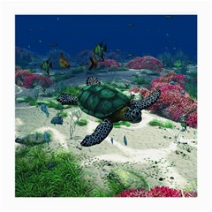 Sea Turtle Glasses Cloth (medium, Two Sides) by gatterwe