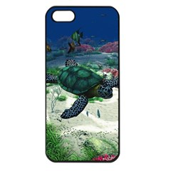 Sea Turtle Apple Iphone 5 Seamless Case (black)