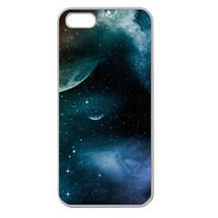 Universe Apple Seamless Iphone 5 Case (clear) by EnjoymentArt