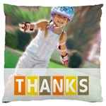 thank - Large Cushion Case (One Side)
