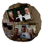 Time for Wine 18  Premium Round Cushion - Large 18  Premium Round Cushion