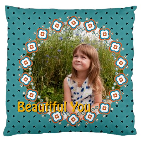 Kids By May   Large Cushion Case (one Side)   N3rc8u0pujv1   Www Artscow Com Front