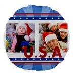 usa - Large 18  Premium Round Cushion