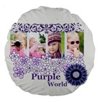 flower kids - Large 18  Premium Round Cushion