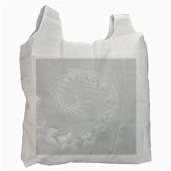 Light Gray Abstract Flowers Recycle Bag (one Side) by BestCustomGiftsForYou