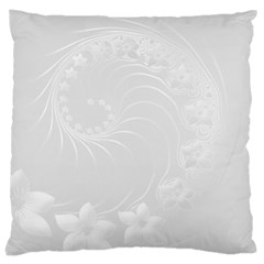 Light Gray Abstract Flowers Large Cushion Case (one Side) by BestCustomGiftsForYou