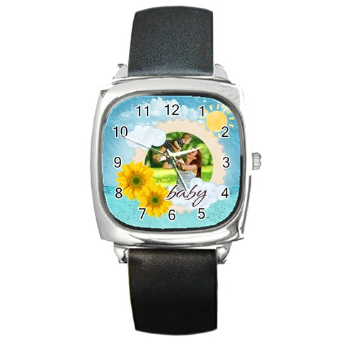 Summer By Summer Time    Square Metal Watch   Ywys3ijixhq7   Www Artscow Com Front