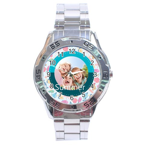 Summer By Summer Time    Stainless Steel Analogue Watch   8jtj6fnokc6n   Www Artscow Com Front