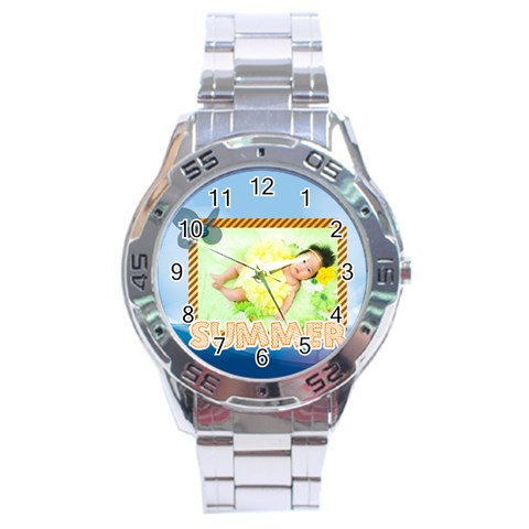 Summer By Summer Time    Stainless Steel Analogue Watch   Qqxbe3aize9q   Www Artscow Com Front