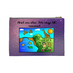 The Creation Story Large Cosmetic Bag By Joy Johns   Cosmetic Bag (large)   6vb4rfq6ymf1   Www Artscow Com Back