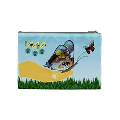 Butterfly Medium Cosmetic Bag 2 By Joy Johns   Cosmetic Bag (medium)   Pm5hhl47p8hz   Www Artscow Com Back