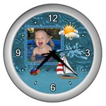 Water Fun Wall Clock (silver)