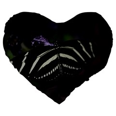 Butterfly 059 001 19  Premium Heart Shape Cushion