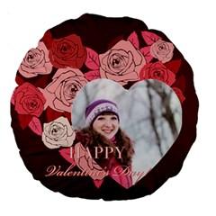 Love By Ki Ki   Large 18  Premium Round Cushion    Lkf3u0dsxvrg   Www Artscow Com Front